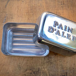 Pain d'A., handgeschmiedete Seifendose Aluminium)