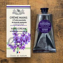 Handcreme mit Sheabutter 'Lavendel' mit natürlicher Lavendelessenz (75ml)