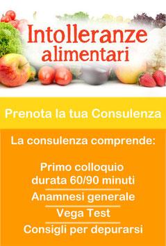 Consulenza Intolleranze Alimentari + Vega Test