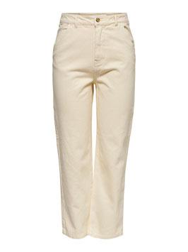 Only High Waist Cargo Jeans QMelanie beige