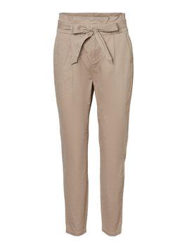 Vero Moda Eva Paperbag Hose mit Schleife Silver Mink