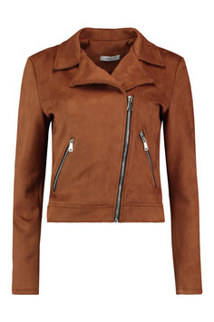 Hailys Jacke Melly -Wildlederimitat brown