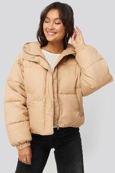NA-KD Hood Short Jacket beige