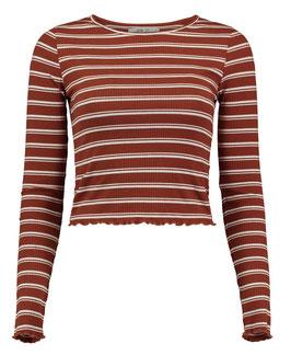 Hailys Longsleeve Tilda caramel stripes