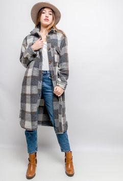 Kartierter Mantel Lana lang - verschiedene Farben