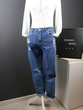 Hailys Mom-fit Jeans - leicht destroyed