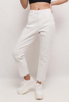 weiße Momfit Jeans