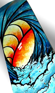 Ablaze Wave Again Skateboard Painting