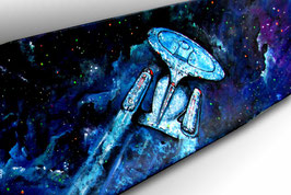 Star Trek Enterprise NCC-1701-D Skateboard Painting