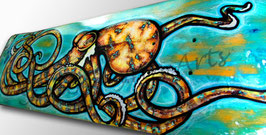 Old Yella' Octopus Skateboard Painting