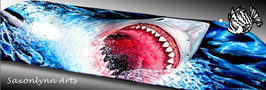 Nibbles - Great White Shark Skateboard Painting