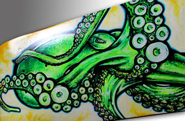 Super Sucker Octopus Skateboard Painting