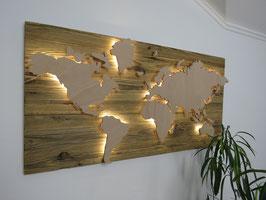 Weltkarte Altholz