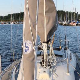 Rollfockpersenning für Neptun 22 (schwarzer Mast)