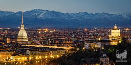 10 - La Mole Antonelliana, il Monte dei Cappuccini e le Alpi