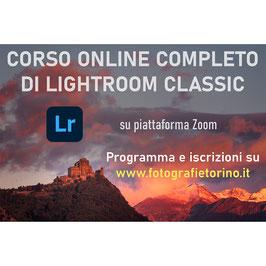 Corso Online di Lightroom Classic