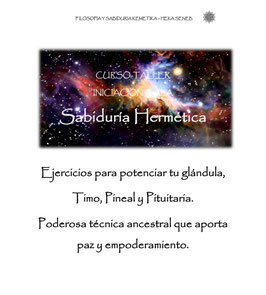 CURSO - TALLER SABIDURIA HERMETICA