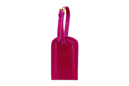 """Gepäckanhänger """"Naviguer"""" aus Lachs- und Calfleder in Hot Pink"""