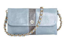 "Baguette Bag ""Carriacou"" in Blau-Grau"