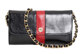 "Baguette Bag ""Carriacou"" in Schwarz / Rot"