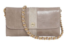 "Baguette Bag ""Carriacou"" in Taupe-Grau"