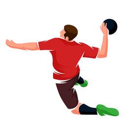 Handballer in bunt