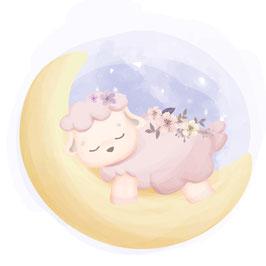 Schaf im Mond