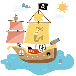 Piratenschiff groß