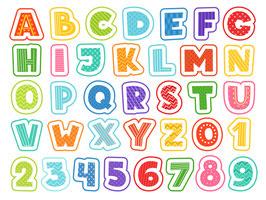 Alphabet - Buchstaben und Zahlen