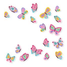 Schmetterlinge (18 Stück)