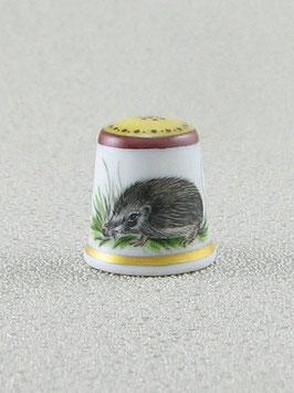 Porzellan Fingerhut - Igel