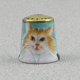 Porzellan Fingerhut - Katze