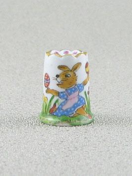 Porzellan Fingerhut - Osterhase