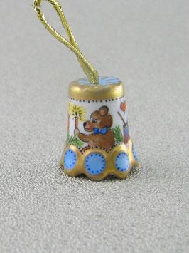 Porzellan Fingerhut - Weihnacht