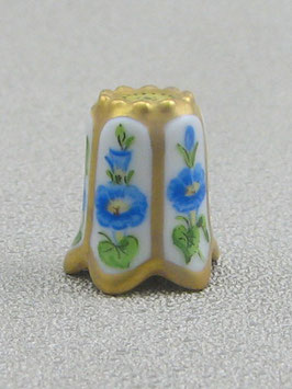 Porzellan Fingerhut - Blaue Winde
