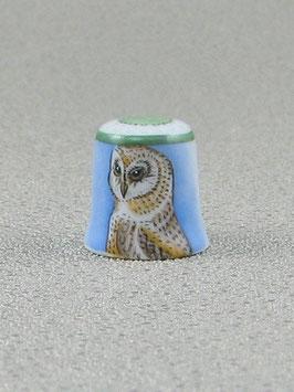 Porzellan Fingerhut - Schleiereule