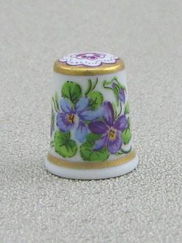 Porzellan Fingerhut - Veilchen