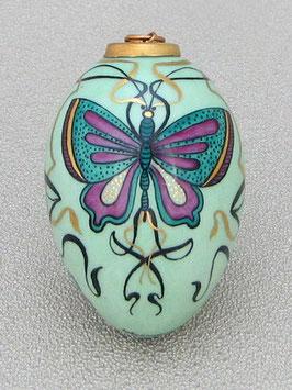 Porzellan Ei - Jugendstil Schmetterling