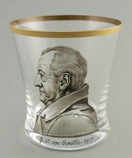 """Glas """"Johann Wolfgang v. Goethe"""""""