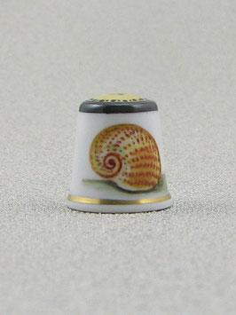 Porzellan Fingerhut - Muschel