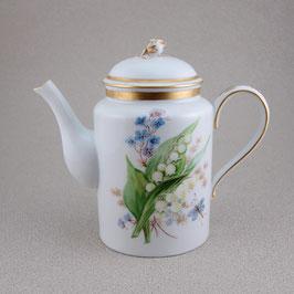 Kaffee Kanne Blumenmalerei