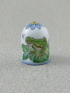 Porzellan Fingerhut - Laubfrosch