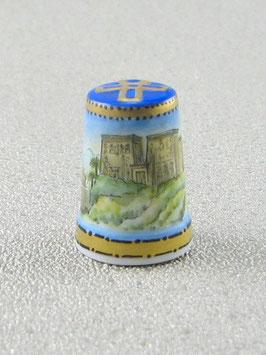 Porzellan Fingerhut - Isistempel Philai