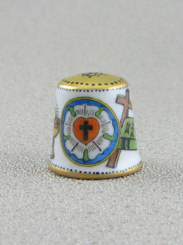 Porzellan Fingerhut - 500 Jahre Reformation