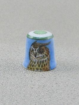 Porzellan Fingerhut - Uhu