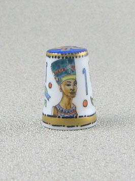Porzellan Fingerhut - Königin Nofretete