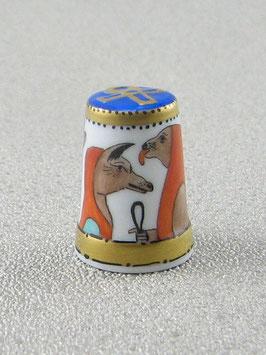 Porzellan Fingerhut - Götter im alten Ägypten