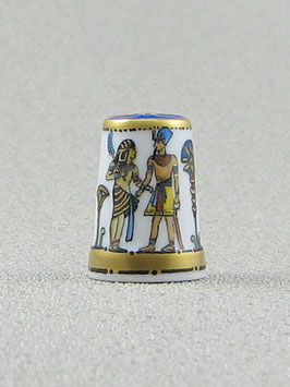 Porzellan Fingerhut - Pharao