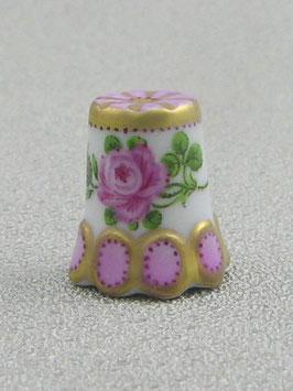 Porzellan Fingerhut - Rose