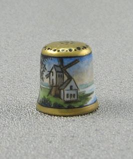 Porzellan Fingerhut - Windmühle